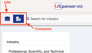 Where can you find companies sponsoring the E-1 visa ?