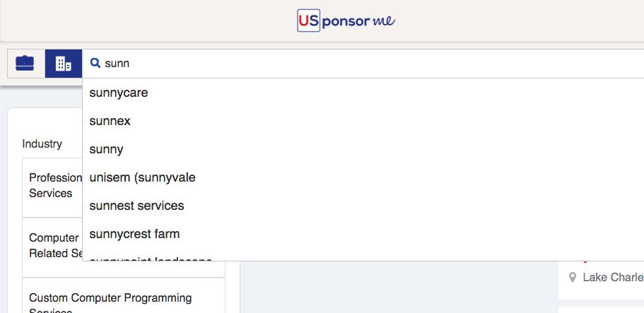 Vérifier qu'une entreprise sponsorise le visa de travail US.