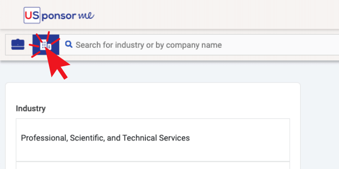 How to switch to company search on USponsor Me