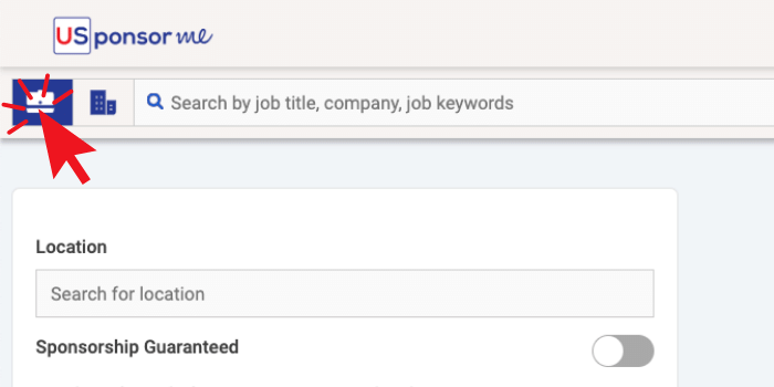 How to switch to job search on USponsor Me