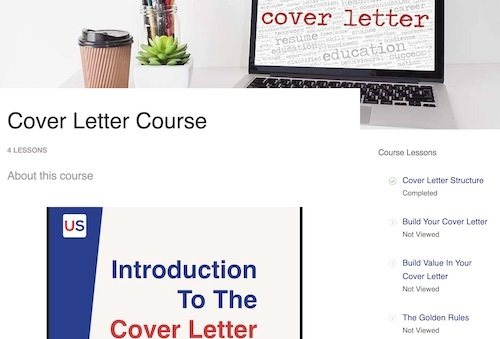 online video course how to create an American cover letter